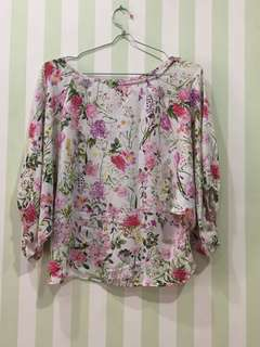 et cetera flowery blouse
