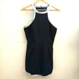 Zalora Black Playsuit