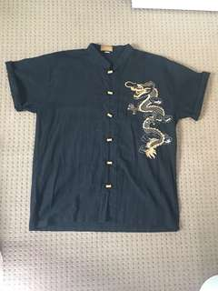 Dragon embroidered top