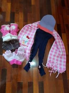 Girl winter accessories