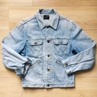 Wrangler Japan Inc Faded Denim Jacket