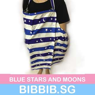 Nursing Cover - Blue Stars and Moons