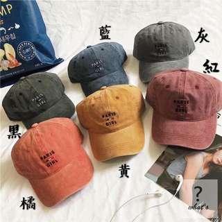 🚚 🧢經典刺繡水洗老帽🧢