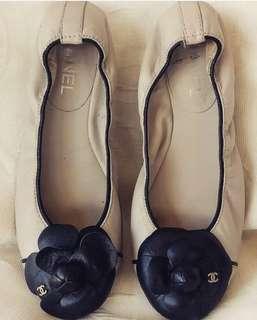 Chanel Camelia flats