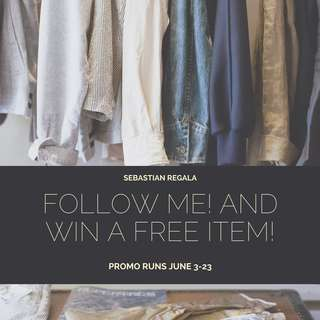Follow Me! Free item for you!