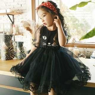 🚚 052512(100~140CM)小公主貓咪卡通可愛小洋裝