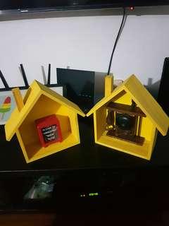 🚚 #homrefresh30 Yellow Housing Decoration Box x 2