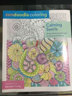 Doodle coloring for adults