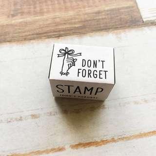 Knoop Works | Don't Forget Stamp