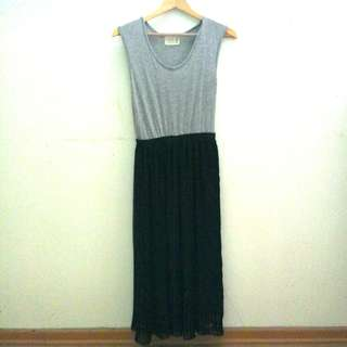 Grey Dress Pleated Skirt