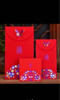 3D butterfly double happiness red packets 10s