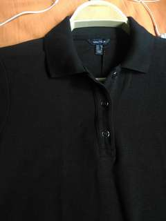 Authentic Nautica ribbed polo shirt