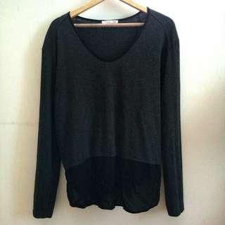 Zara Grey Fishtail Shirt