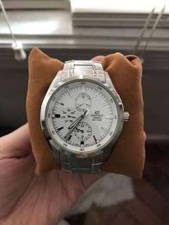 Casio Edifice Watch in white face/silver