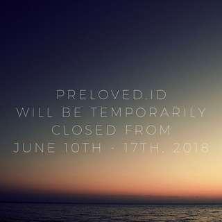 Temporarily closed 10-17 Juni 2018