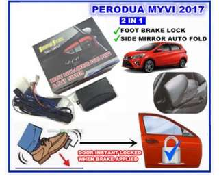 MYVI 2017 BRAKE LOCK & SIDE MIRROR FOLD