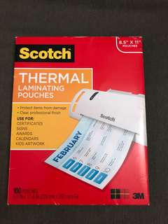 Scotch thermal laminating pouches