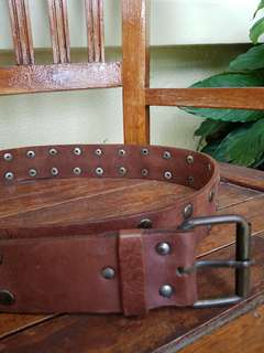 Leather belt from Italy