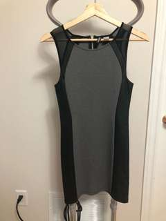 H&M Grey/Black Bodycon Mini Dress