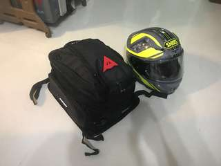 Dainese rear tail bag with rain cover