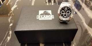 X-LARGE CLOTHING DAYTONA 地通拿 電子錶 (齊格, 連盒, 說明書, 牌)