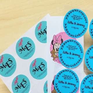 Sticker print (label printing)