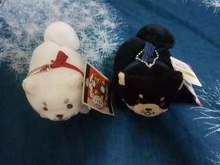 🚚 全新柴犬吊飾娃娃#兩個一組