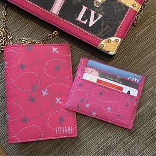 🚚 CUSTOM PASSPORT HOLDER travel pink fuschia