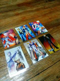 King of Fighters Laminated Card Set 5