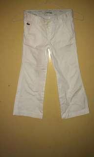 Lacoste white pants
