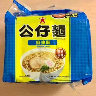 <全新> DOLL Doll Instant Noodle Sesame Oil Flavour 5 packs公仔麵麻油味5包裝