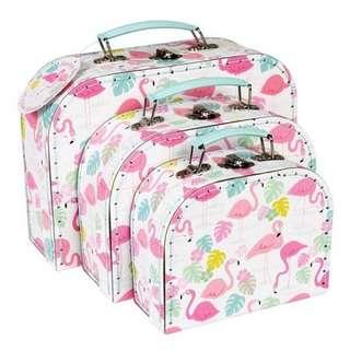 Flamingo Suitcase Set