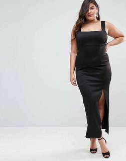 Black Dress with Slit - COD