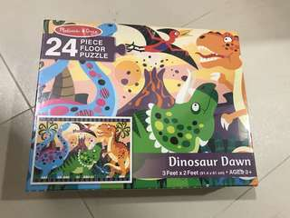 Melissa and Doug- dino big Puzzle. New