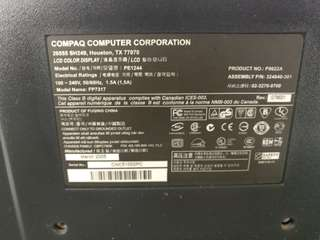 Compaq FP7317 LCD monitor