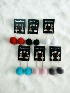 Ready !!! Anting Pom2 Bulu Juntai Permata.