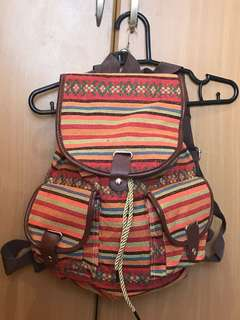 Aztec Printed Rucksack Bag