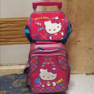 Original Hello Kitty Stroller Bag With Lunch Bag