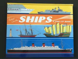 Children book: pop-up book about Ships (hardcover)