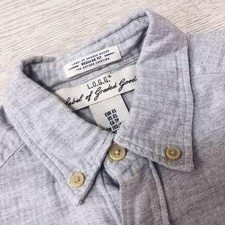 🚚 H&M 灰色 襯衫