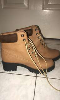 timberland inspired heeled boots