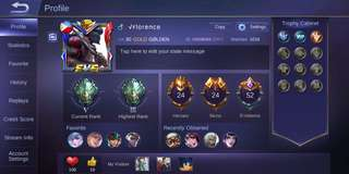 Mobile Legends Account With Royal Matador Skin