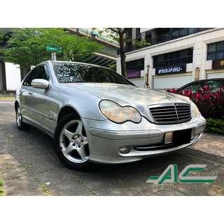 2001 M.BENZ C200K 2.0 高CP值經典車款 車況綿密