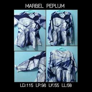 Top Peplum Marble