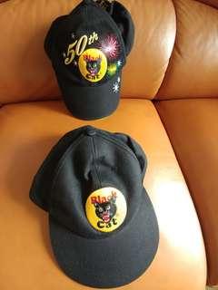 2 Black Cat cap (Couple caps)