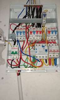 Wiring and light fixing