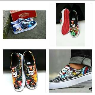 Sepatu Sneakers Vans Authentic Motif Grade Original