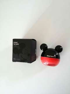 mickey mouse lip balm 唇彩 紅色 red sun color