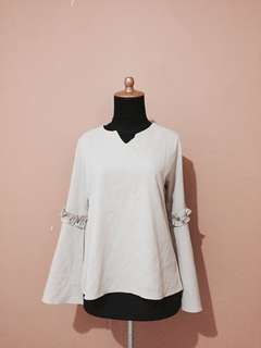 Nude Bell Sleeves Blouse / Top