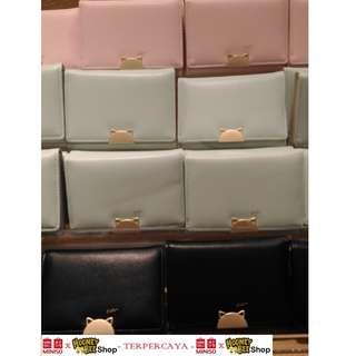 Japan Quality - Dompet Lipat Kucing Miniso Cat wallet import